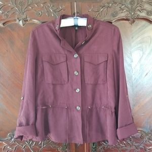 WHBM sz 12 wine purple jacket